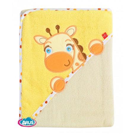 Bobas okrycie kąpielowe 100% bawełna (żółto żyrafka) PEL