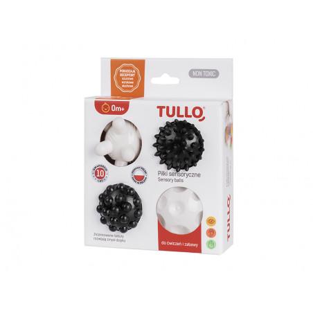 Piłki sensoryczne czarno-białe 4 szt