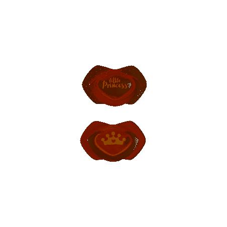 Canpol babies Smoczek silikonowy 0-6 m symetryczny ROYAL BABY 2szt. różowy