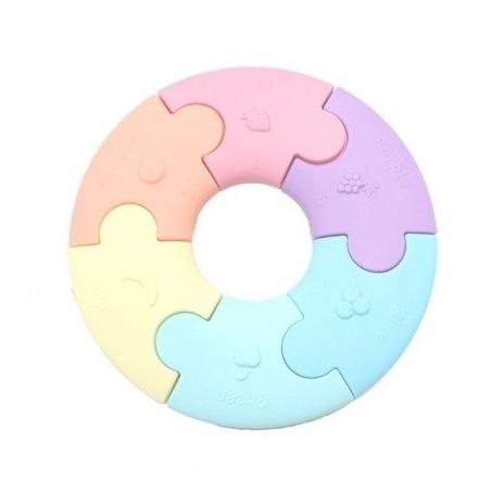 JELLYSTONE Pierwsze puzzle sensoryczne pastelowe kółko